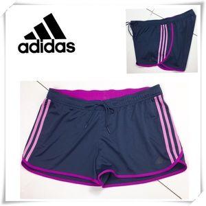 Adidas Three line Running Shorts Navy & Pink